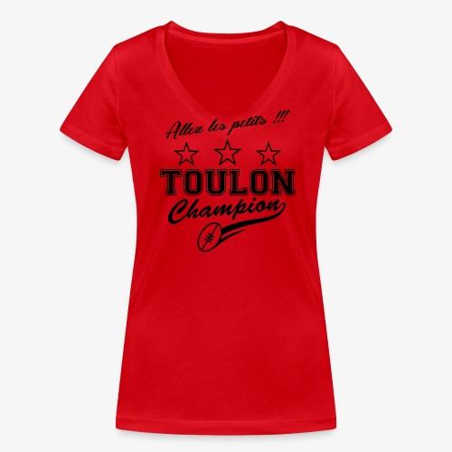 Allez les petits - T-shirt bio col V Stanley & Stella Femme