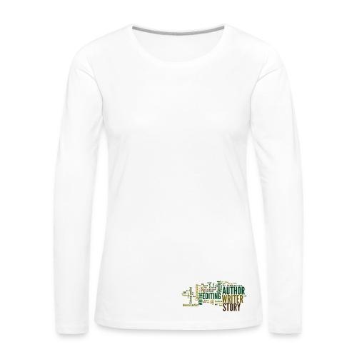 Author/Writer long sleeved shirt - Women's Premium Longsleeve Shirt