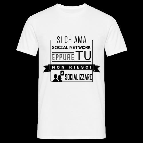 Social Network Maglietta da uomo logo nero - Maglietta da uomo