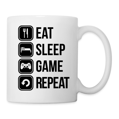 eat sleep game repeat - Mug