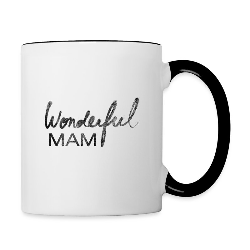 Tasse mug bicolore Wonderful Mam - Tasse bicolore