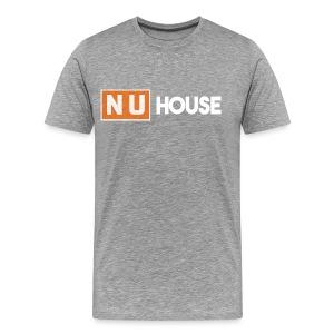 NU House Unisex T-Shirt | Light Grey - Men's Premium T-Shirt