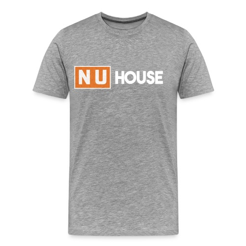 NU House Unisex T-Shirt   Light Grey - Men's Premium T-Shirt
