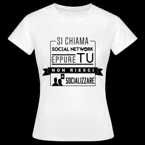 Social Network Maglietta da donna logo nero - Maglietta da donna