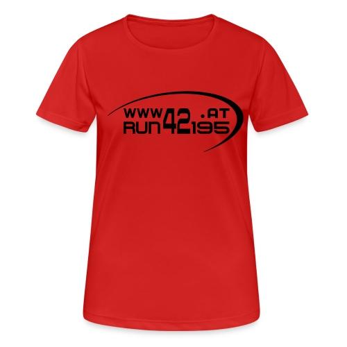 Damen Funktionsshirt neu - Logo front schwarz - Frauen T-Shirt atmungsaktiv