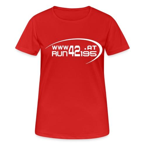 Damen Funktionsshirt neu - Logo front weiß - Frauen T-Shirt atmungsaktiv