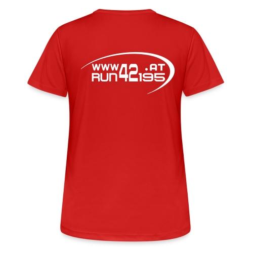 Damen Funktionsshirt neu - Logo back weiß - Frauen T-Shirt atmungsaktiv