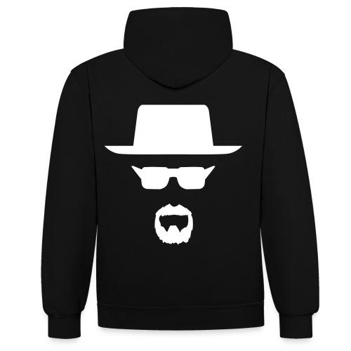 SWAG Sweatshirt Man Face - Kontrast-hættetrøje