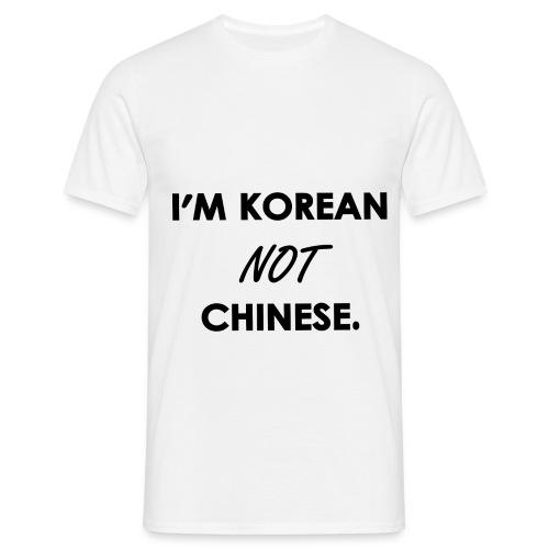 T-Shirt I'M KOREAN NOT CHINESE.  - T-shirt Homme