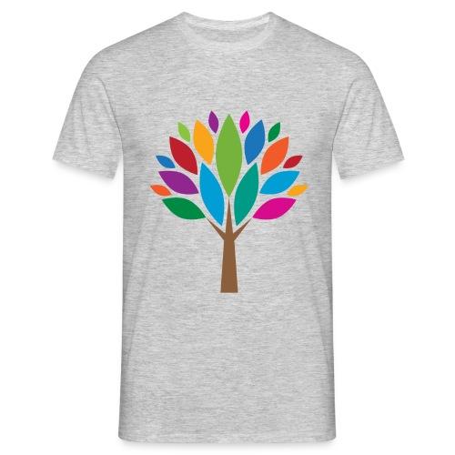 Bunte-Blätter-Baum-Männer-T-Shirt - Männer T-Shirt