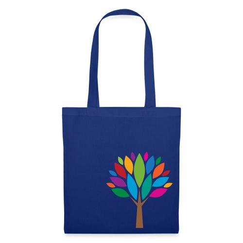 Bunte-Blätter-Baum-Stofftasche - Stoffbeutel