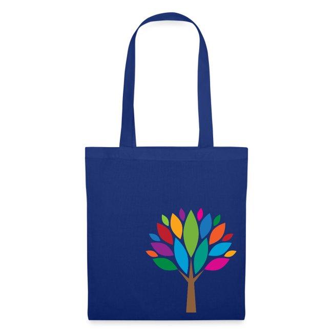 Bunte-Blätter-Baum-Stofftasche