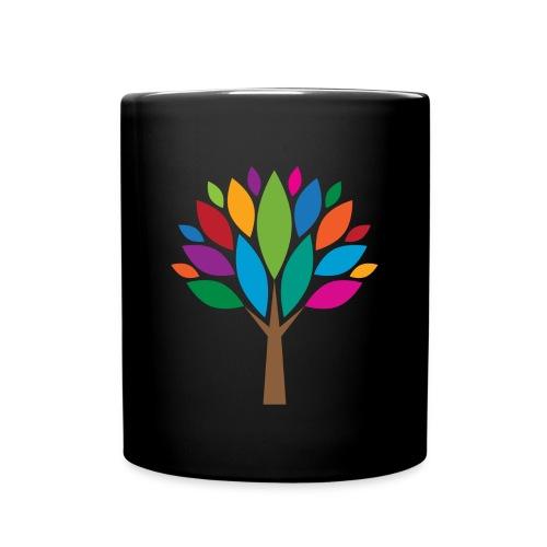 Bunte-Blätter-Baum-Tasse - Tasse einfarbig