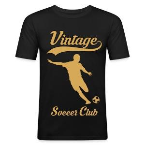 vintage soccer club - Men's Slim Fit T-Shirt