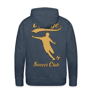 vintage soccer club - Men's Premium Hoodie