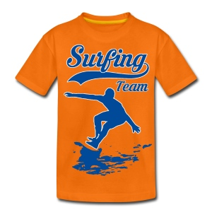 Surfing Team 01 - Teenage Premium T-Shirt