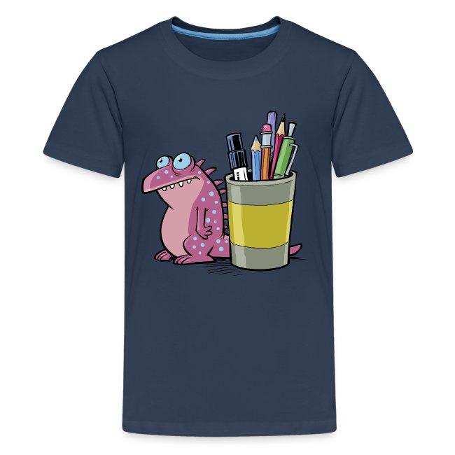 Teenager Premium T-Shirt Drache