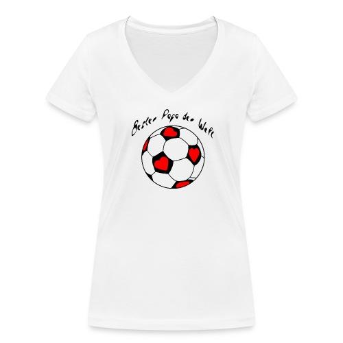 Bester Papa der Welt - Frauen Bio-T-Shirt mit V-Ausschnitt von Stanley & Stella