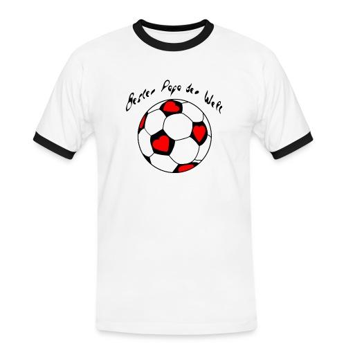 Bester Papa der Welt - Männer Kontrast-T-Shirt