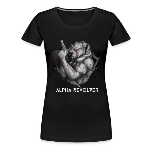 Women's Black & White logo - Women's Premium T-Shirt