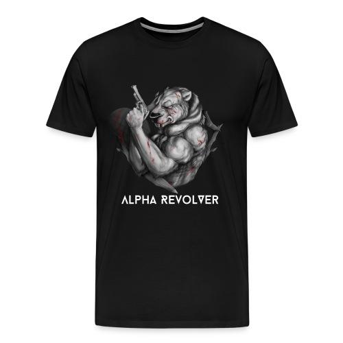 Men's Black & White Logo - Men's Premium T-Shirt
