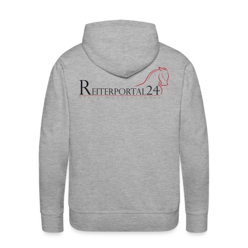 Reiterportal24 Männer Kapuzenpullover grau - Männer Premium Hoodie