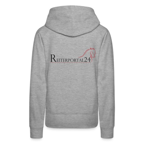 Reiterportal24 Frauen Kapuzenpullover grau - Frauen Premium Hoodie