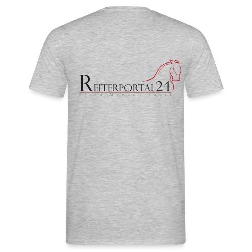 Reiterportal24 Männer T-Shirt grau - Männer T-Shirt