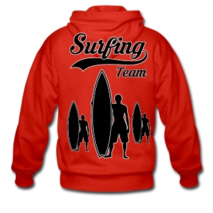 Surfing Team 05 - Men's Premium Hooded Jacket