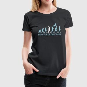 Evolution Time Travel 2C w. Text T-Shirts - Frauen Premium T-Shirt