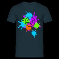 T-Shirts ~ Männer T-Shirt ~ Splatter-Bunt