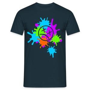 Splatter-Bunt - Männer T-Shirt