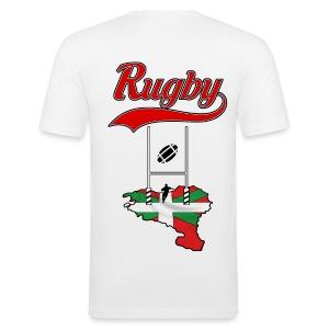 Logo Rugby Basque - Tee shirt près du corps Homme
