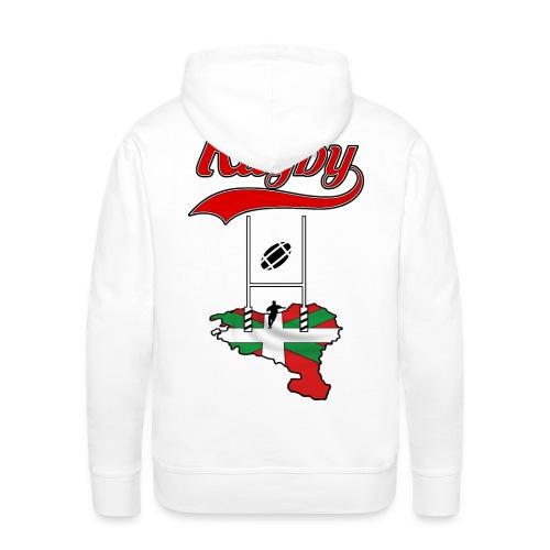 Logo Rugby Basque - Sweat-shirt à capuche Premium pour hommes