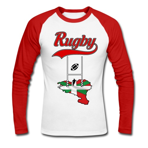 Logo Rugby Basque - T-shirt baseball manches longues Homme
