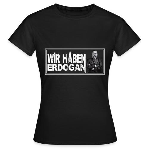 WhE_Schwarz_w - Frauen T-Shirt