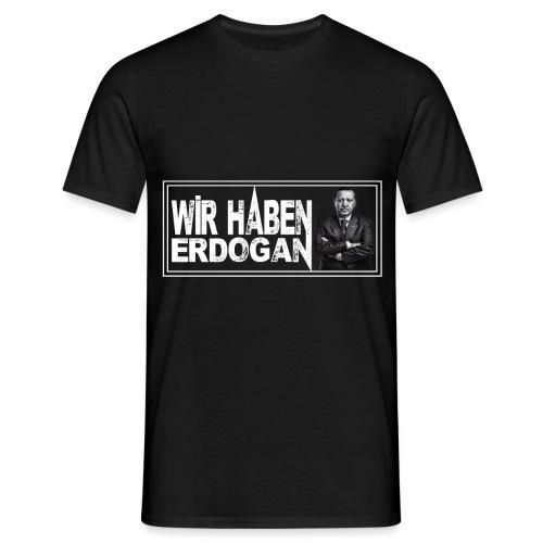 WhE_Schwarz_m - Männer T-Shirt