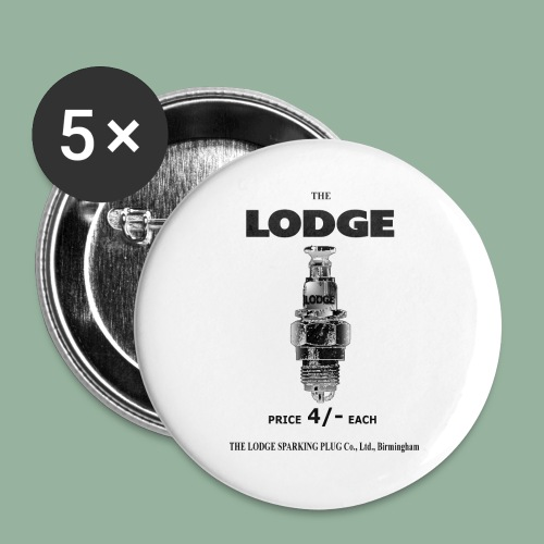 Lodge Pin/Badge - Buttons small 1''/25 mm (5-pack)