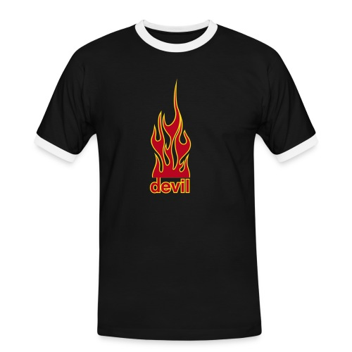 Devil - Männer Kontrast-T-Shirt