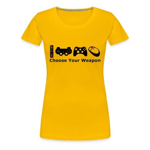 Womens Choose Weapon T-Shirt - Women's Premium T-Shirt