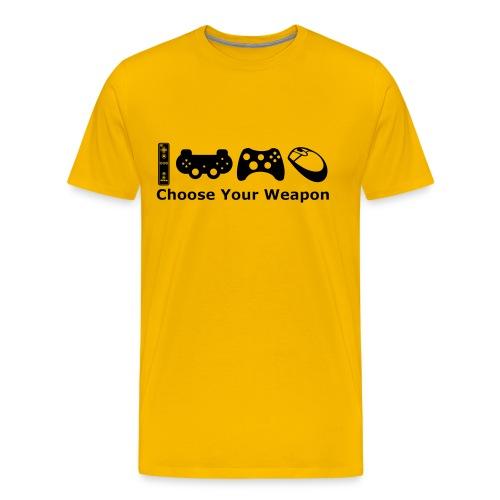 Mens Choose Weapon T-Shirt - Men's Premium T-Shirt
