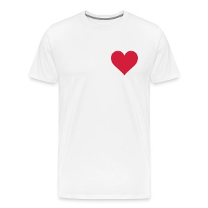 Men's Premium T-Shirt - heart,men