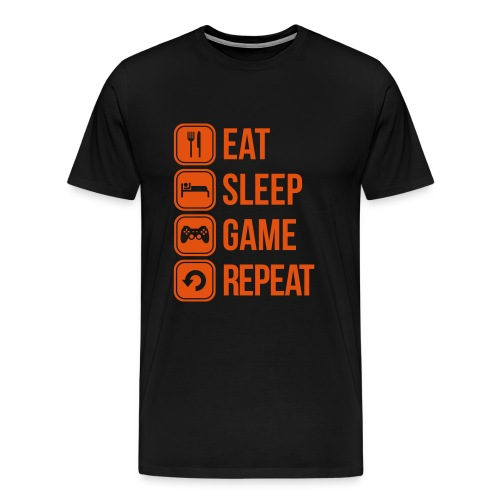 Eat, Sleep, Game, Repeat - Premium-T-shirt herr