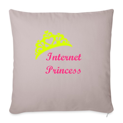 INTERNET PRINCESS CUSHION - Sofa pillowcase 17,3'' x 17,3'' (45 x 45 cm)