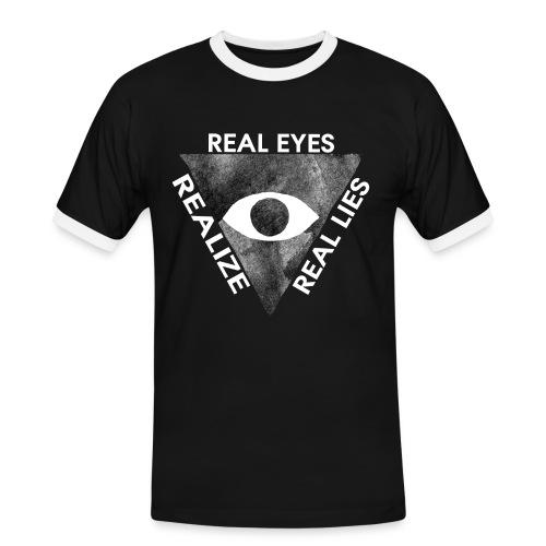 Wahre Augen Realisieren wahre Lügen - Männer Kontrast-T-Shirt