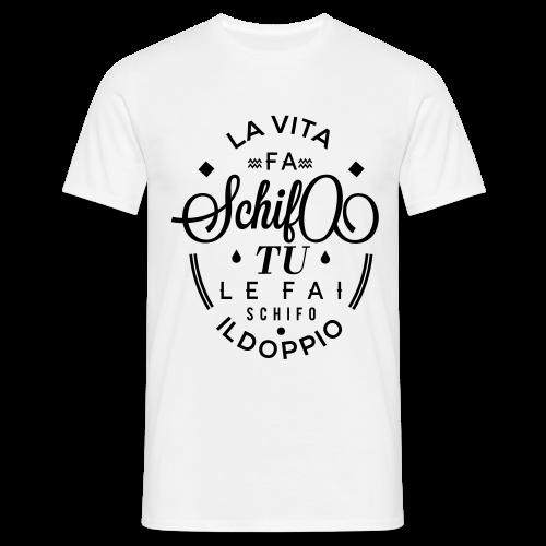 La vita... Maglietta da uomo logo nero - Maglietta da uomo