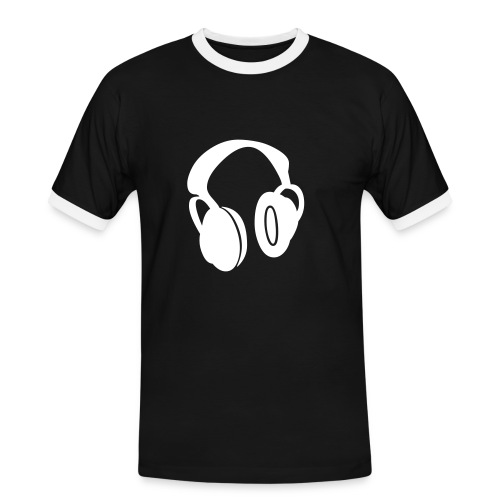 Kopfhörer 5 - Männer Kontrast-T-Shirt