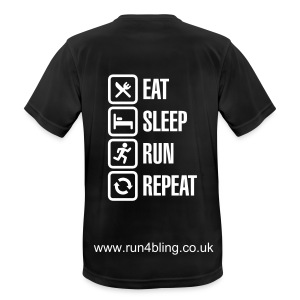 Eat, Sleep, Run & Repeat t-shirt - Men's Breathable T-Shirt