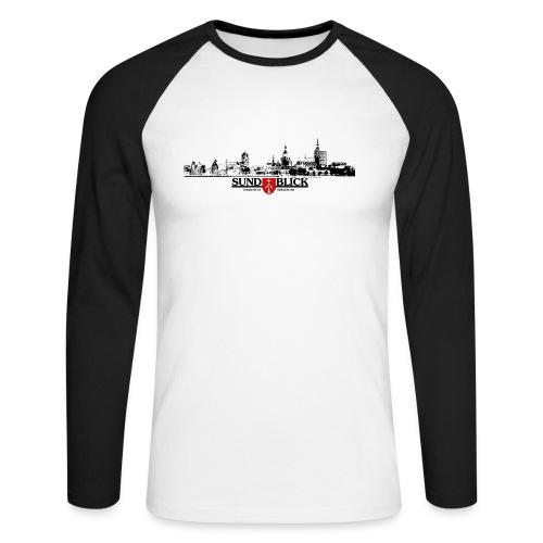 Langarm-Shirt Skyline - Männer Baseballshirt langarm
