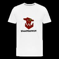 T-Shirts ~ Männer Premium T-Shirt ~ Premium Waaagh-Shirt mit Namen Weiß